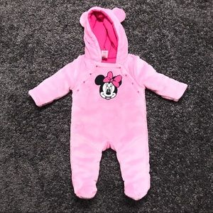 Disney One Pieces - Disney Minnie Mouse Infant Plush Sleeper Snap On
